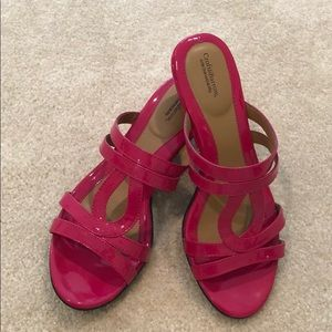 Croft and Barrow Pink Wedged Sandal